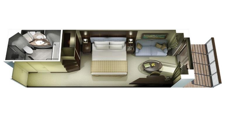 Cabine Concierge Balcon - A2 - A2 - 153