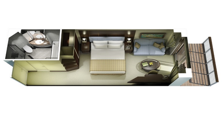 Cabine Concierge Balcon - A3